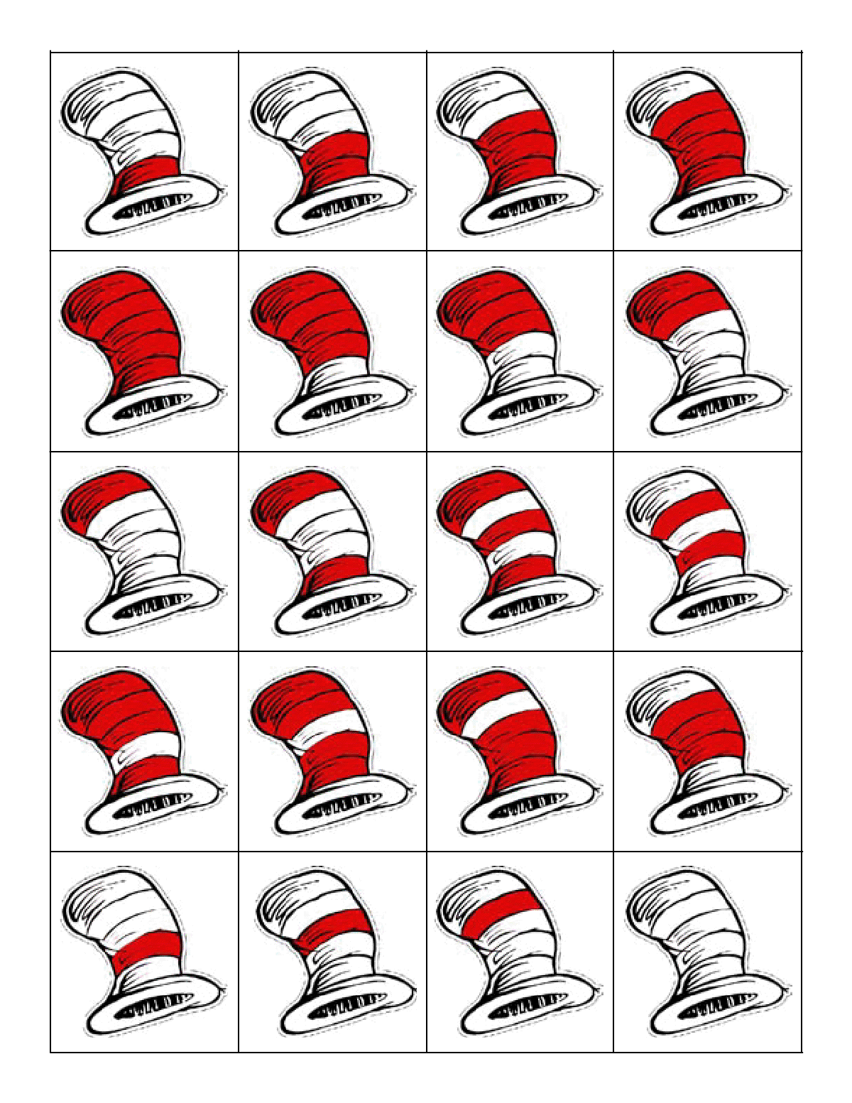 Drseuss Hat Game