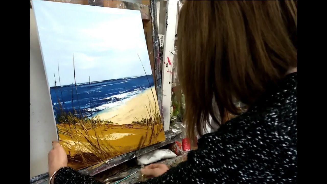 Tuto Peinture Au Couteau Facile Le Bord De Mer Peinture Au