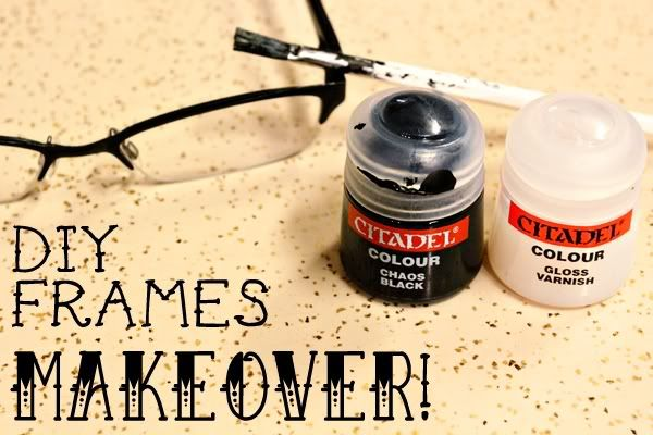 2a564d3d50 Cause sometimes the finish on glasses chips or maybe you want a new look!  DIY Frames Makeover - painting the frames of an old pair of eyeglasses