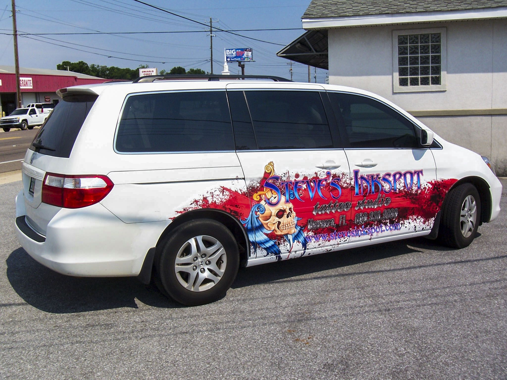 Vehicle graphics for Steve s Inkspot by Pensacola Sign in Pensacola