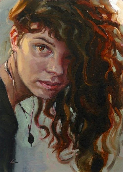 """Flip"" original oil painting, artist John Larriva  he's married to one of my childhood friends.  check him out, his art is awesome"