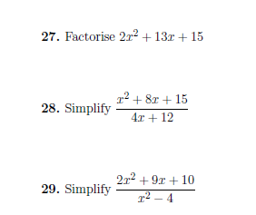 Mixed algebra questions worksheet (with solutions): A worksheet ...