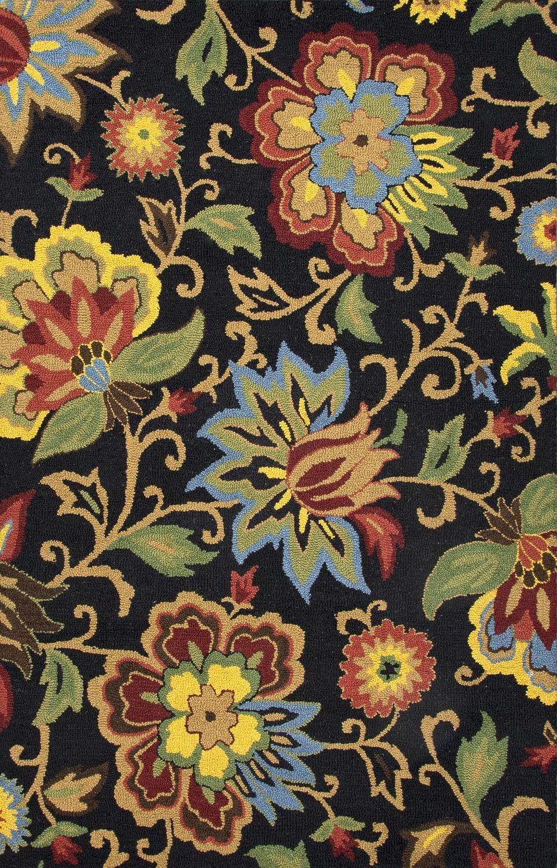 Jaipur Rugs Hacienda Black Floral Area Rug Floral Area Rugs Jaipur Rugs Wool Area Rugs