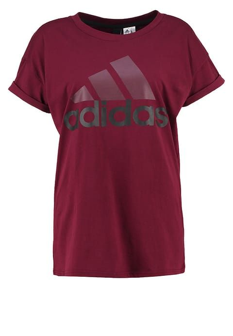 Vetements Sport Adidas Performance T Shirt Imprime Maroon Black