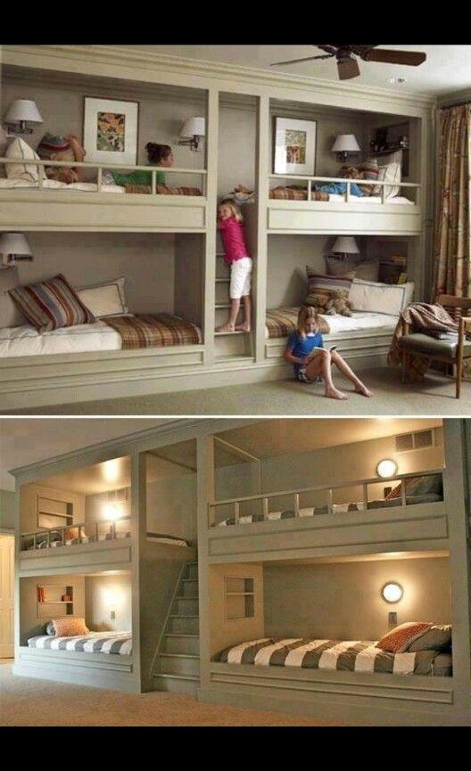 Kreative Losung Fur Viele Betten Auf Kleinem Raum Etagenbett Kinder Schlafzimmer Fur Kinder Kinderschlafzimmer