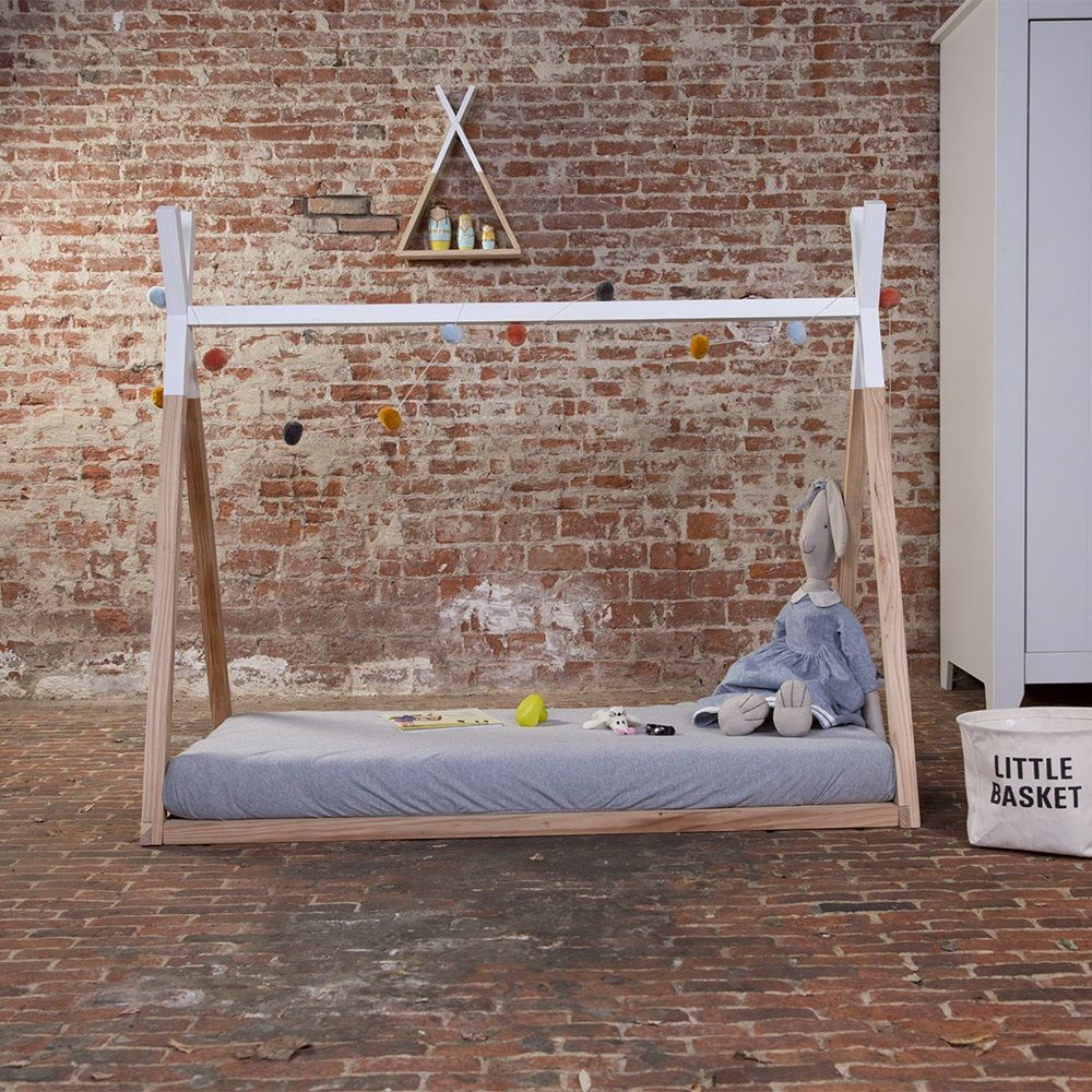 Tipi Bett 120x200 Children S Tipi Wooden Cot Bed Frame In 2019 Liam Teepee Bed
