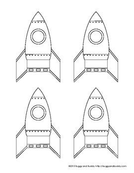 Use this free rocket template with my All About Space unit