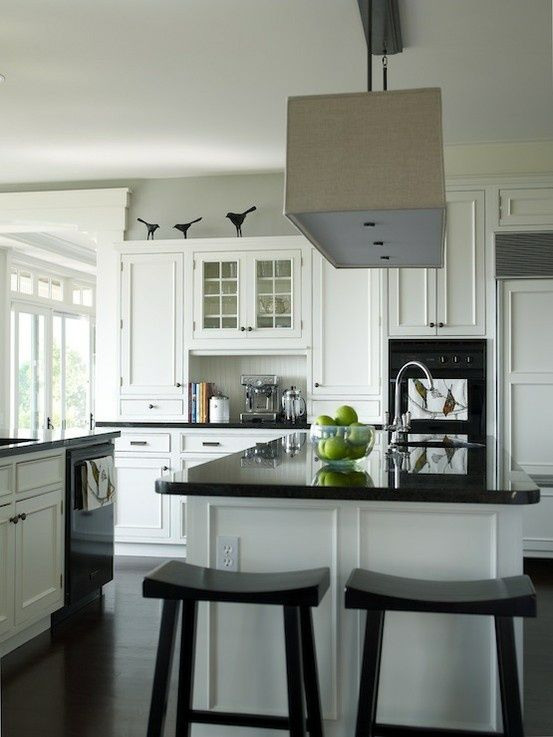Kitchens With Black Appliances Photos The Birds What A Fun Styling Idea For That Space A Black Appliances Kitchen Kitchen Inspirations Black Countertops