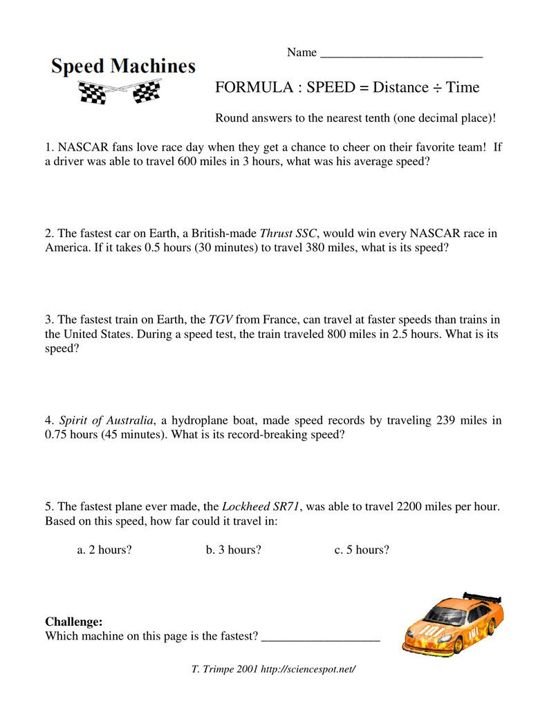 hight resolution of 4 Speed Distance Time Problems Worksheet   Distance time graphs worksheets