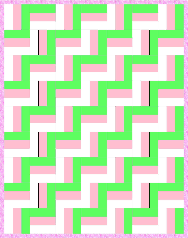 Zig-Zag Rail Fence Quilt Pattern-The classic Rail Fence pattern is ... : zig zag rail fence quilt pattern - Adamdwight.com