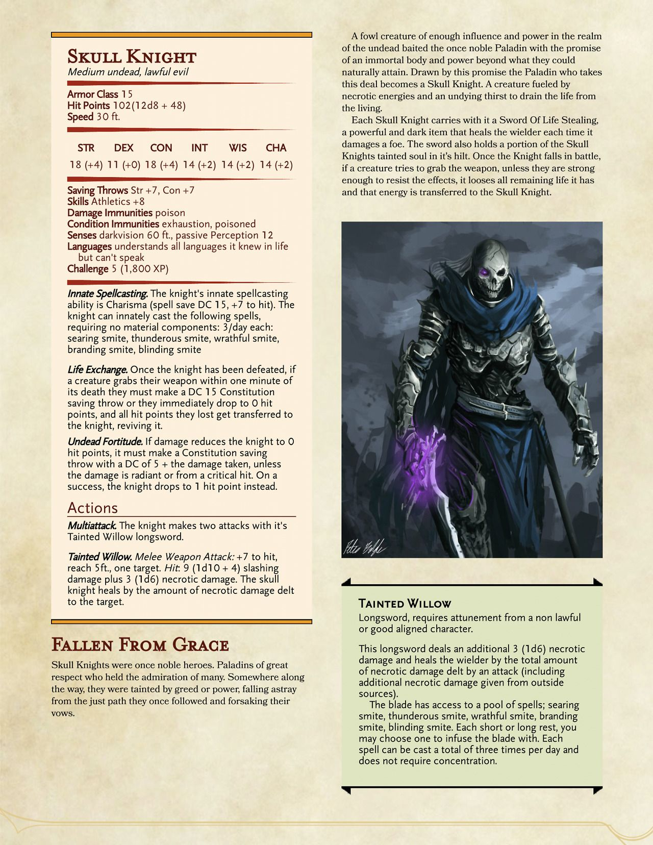 Dungeons & Dragons — Some undead creatures  Used them a
