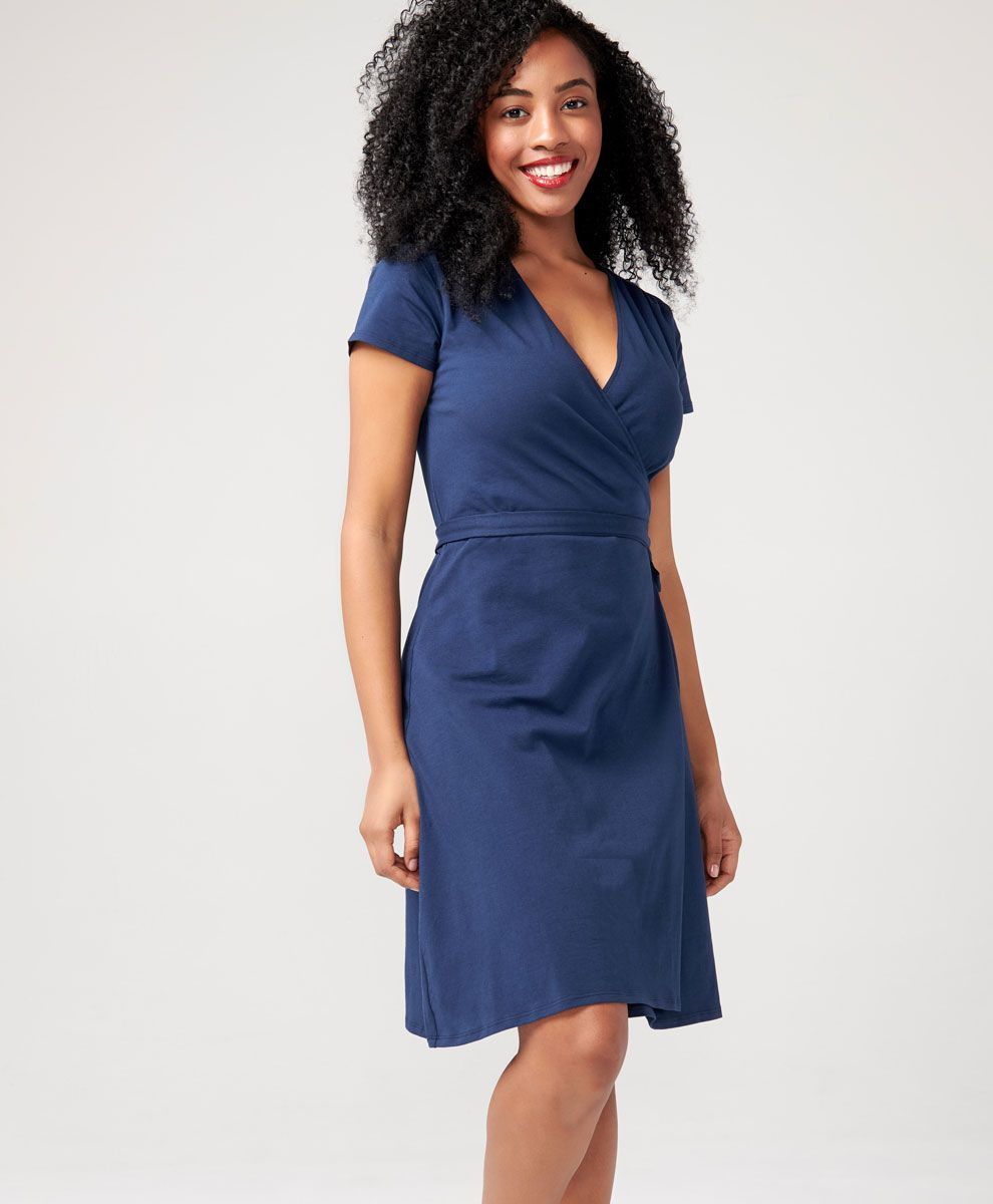16c628b46ed095 Women's Wrap Dress made with Organic Cotton | Pact | Becky | Dresses ...