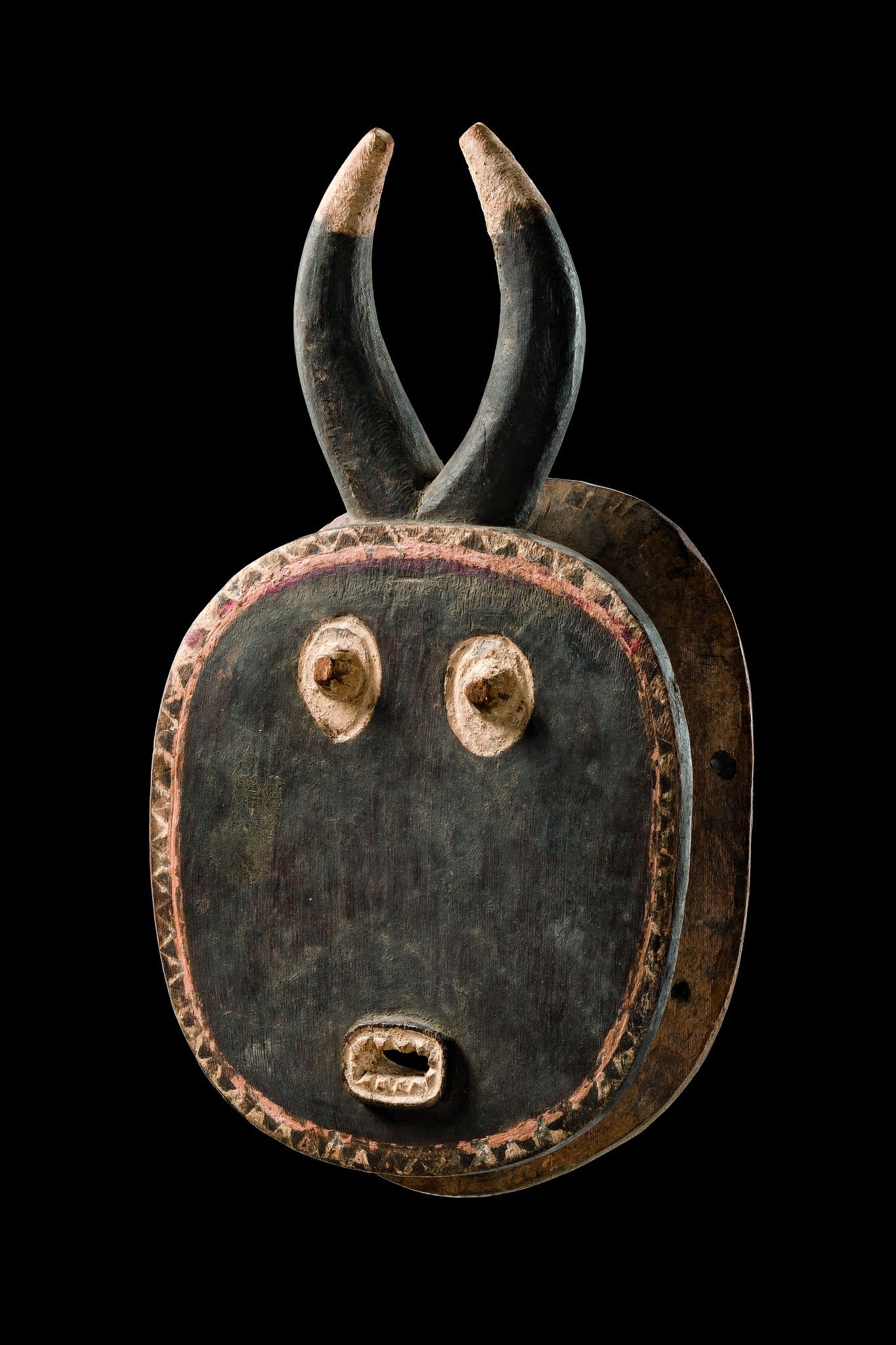Africa   'Goli' mask from the Baule people of the Ivory Coast   Wood and pigment