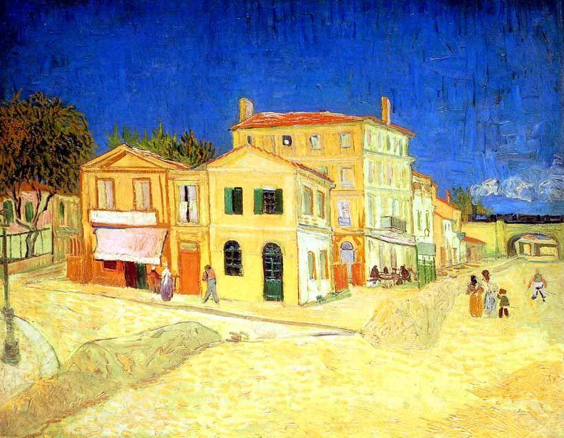 La maison jaune (La maison de Vincent), septembre 1888   Vincent Van ...