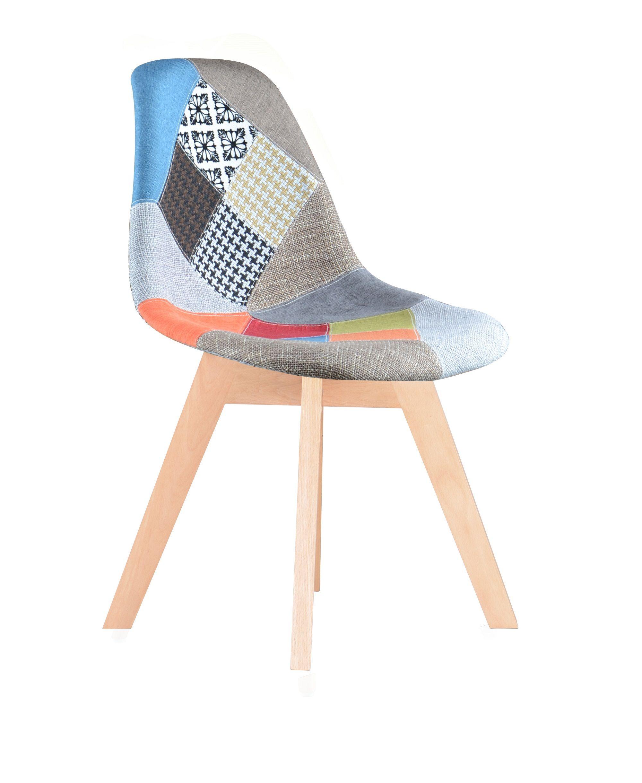 chaise scandinave tissu patchwork