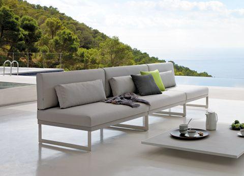 Brand New From Manutti In Nautic Fabric Squat Garden Sofa