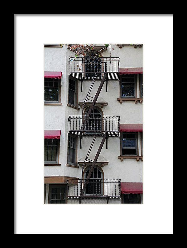 stairs, fire escape, windows, maydestone, building, staircase, sacramento, california, michiale schneider photography