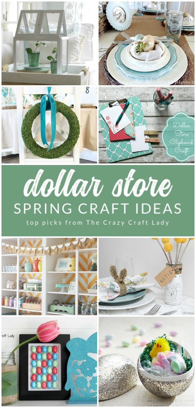 12 Beautiful Spring Dollar Store Crafts Dollar Stores