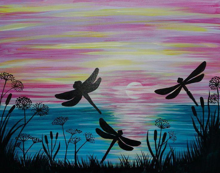 25 Best Ideas About Dragonfly Painting On Pinterest Sunset Lienzos Pintados Dibujos Hermosos Proyectos De Arte