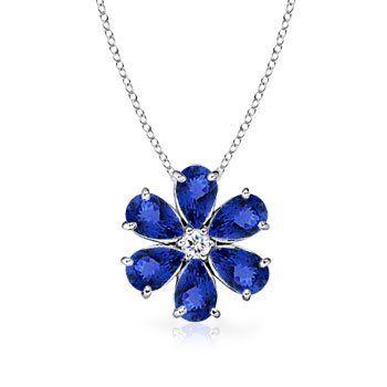 Angara Tanzanite Teardrop Necklace in Platinum wve2lg4rl