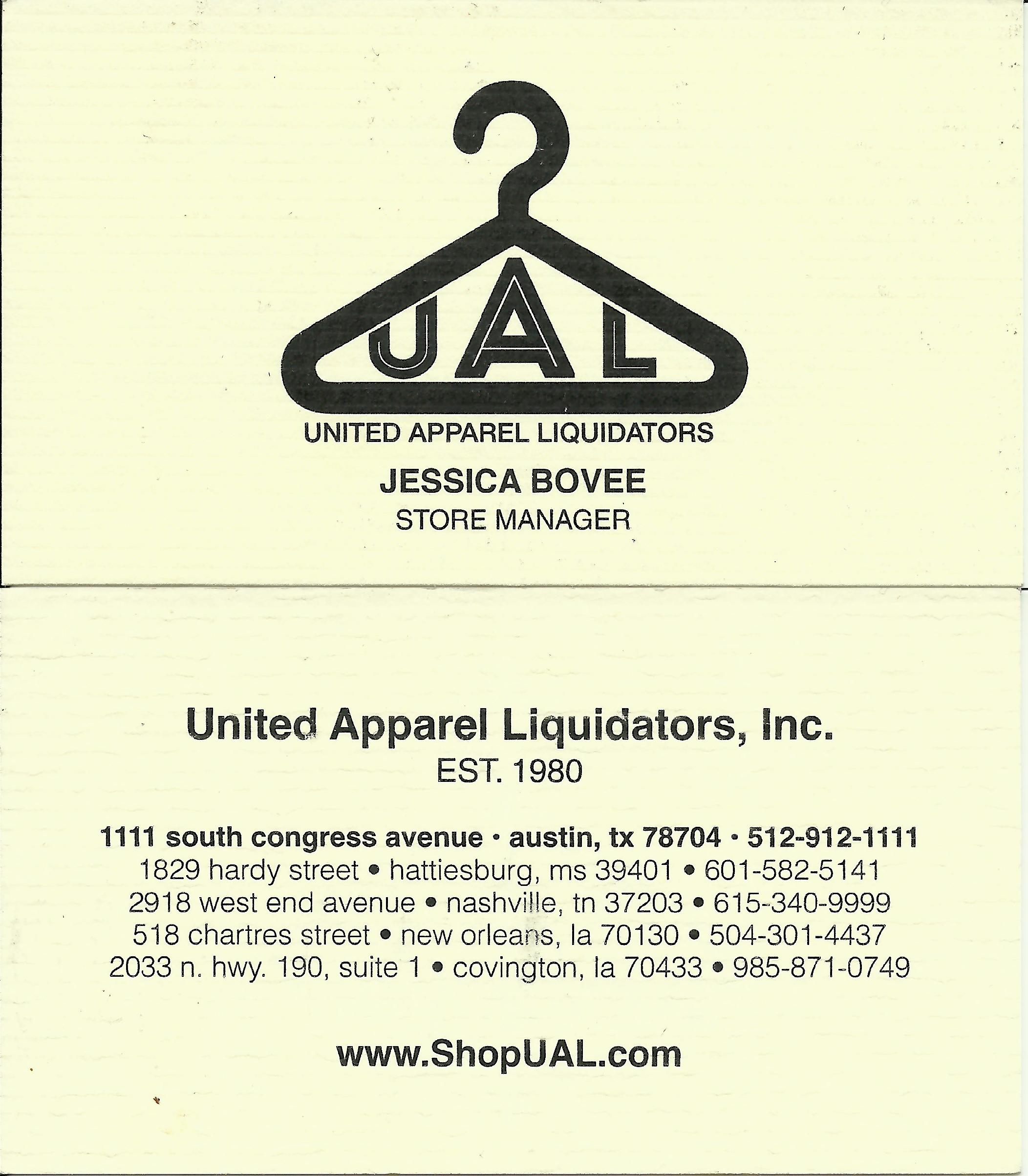 unites apparel liquidators inc graphic design logo example