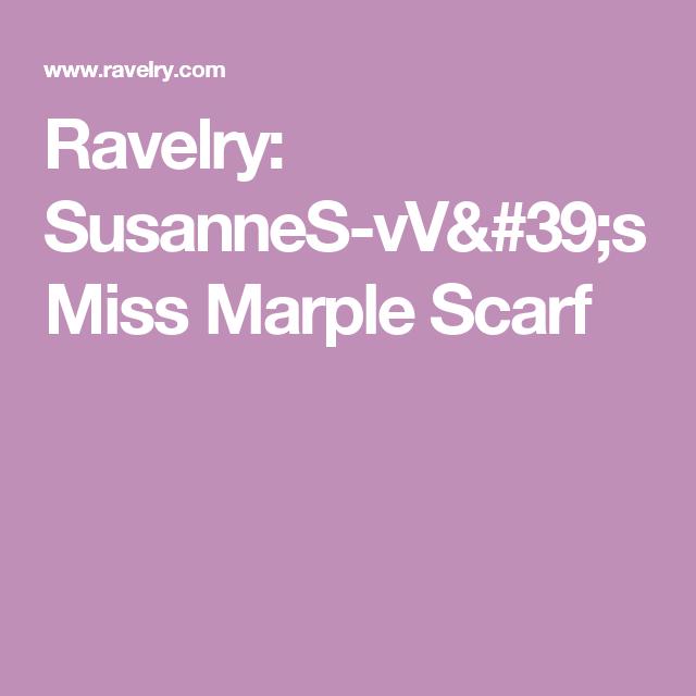 Ravelry: SusanneS-vV's Miss Marple Scarf