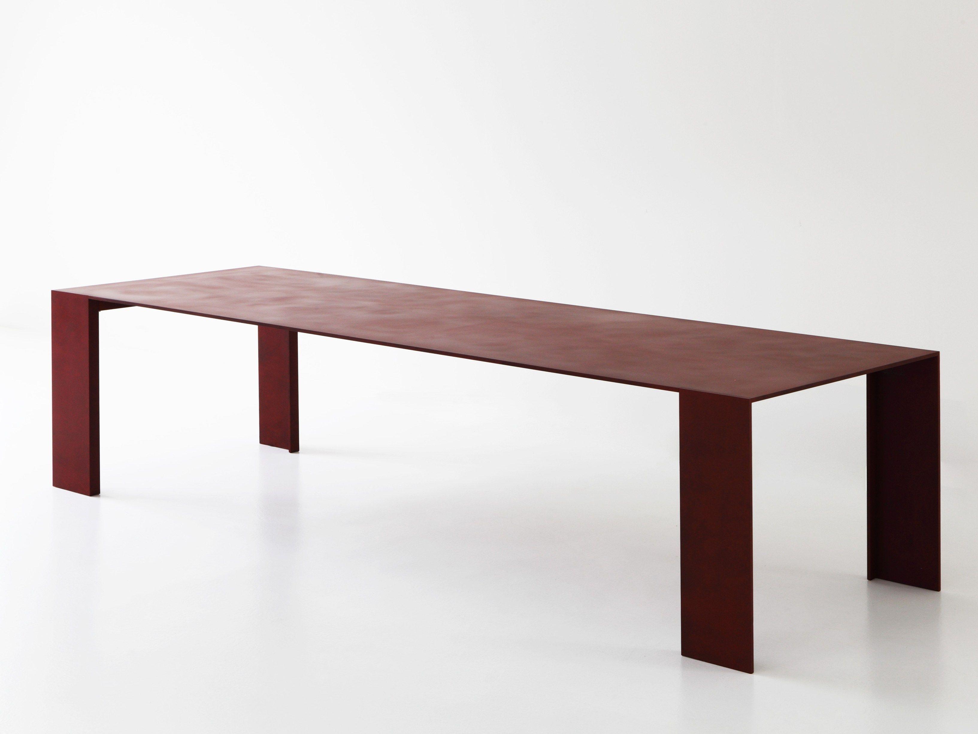 Tavolo Porro ~ Mesa de metal metallico by porro diseño piero lissoni furniture