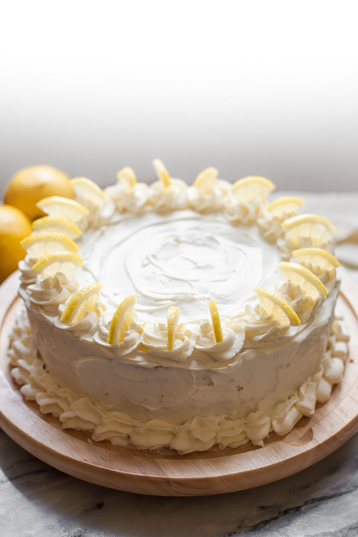 Triple Lemon Layer Cake with Whipped Cream Frosting ...
