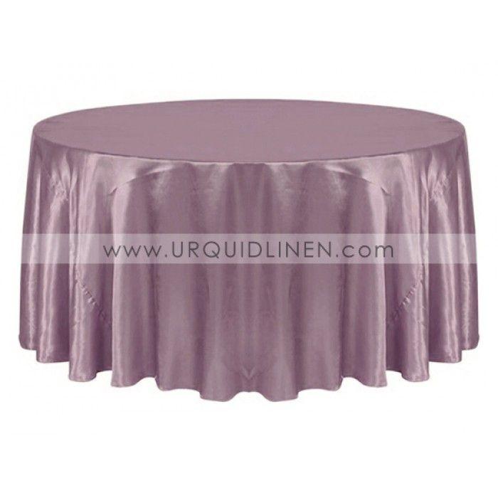 Bridal Satin Tablecloth Mauve 35 90 Round 16 Min 5 Order