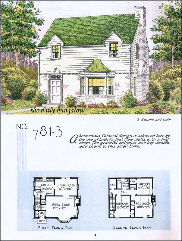 1935 National Plan Service Sims House Plans Vintage House Plans Small House Inspiration