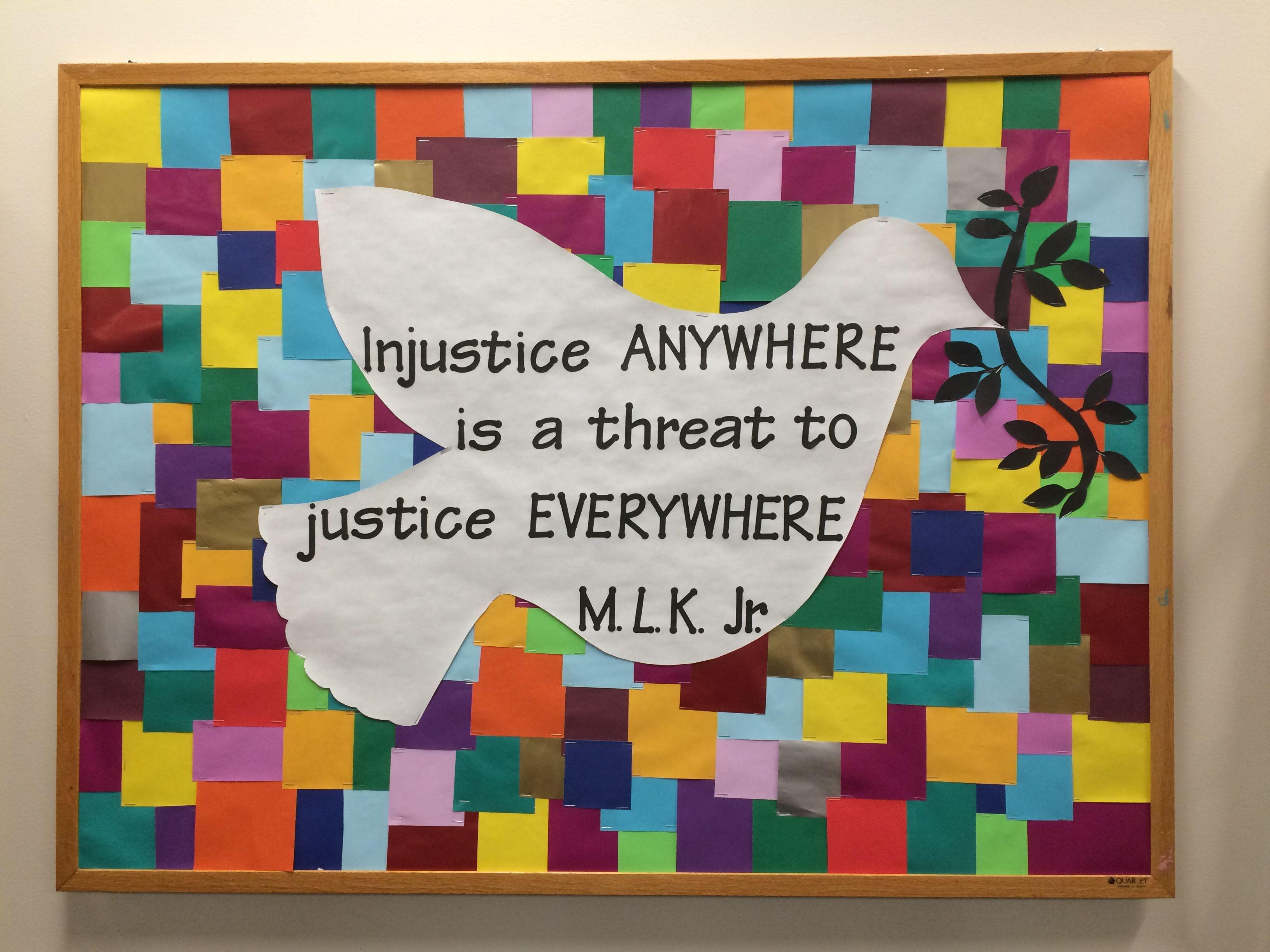 Social Justice Bulletin Board