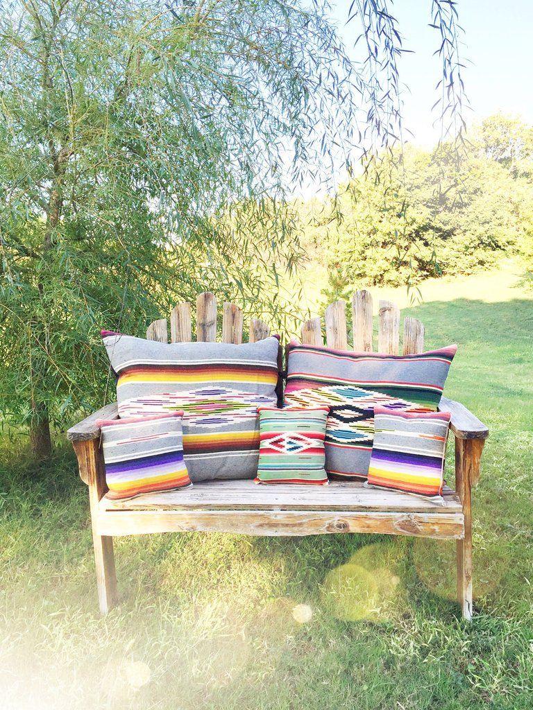 Totem Salvaged Serape Throw Pillow. Boho western home decor | Decor ...