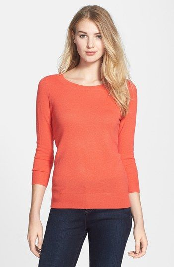 Halogen® Lightweight Cashmere Sweater (Regular & Petite) available ...
