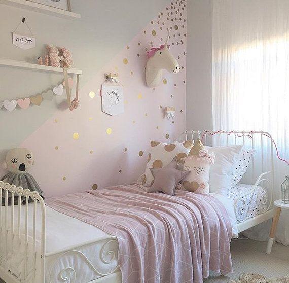 gold polka dot decals, spot decal, home decor, vinyl wall stickers