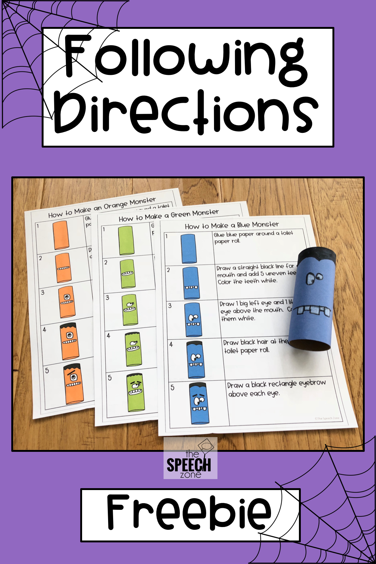 Free Following Directions Monster Craft Activity