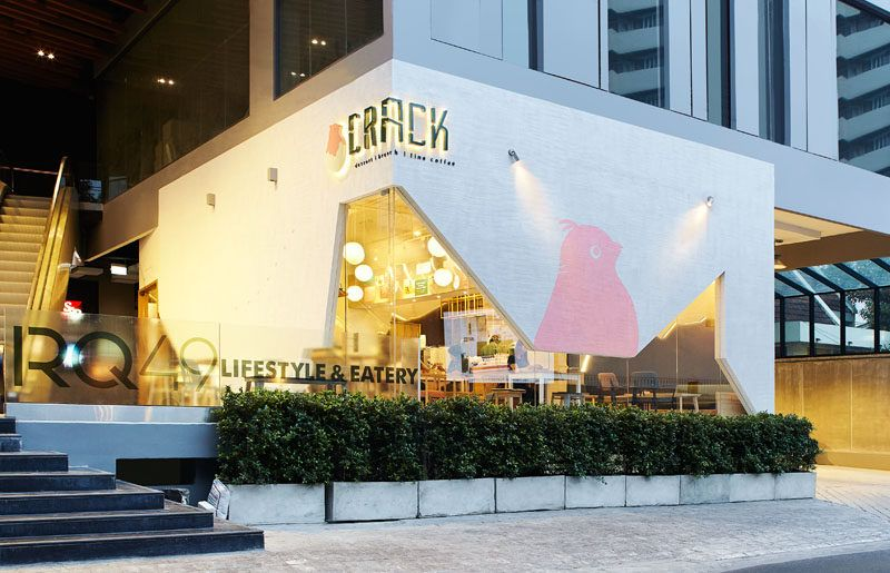 This restaurant design was inspired by cracked eggs