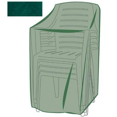 All Weather Outdoor Furniture Cover For Stacking Chairs Green