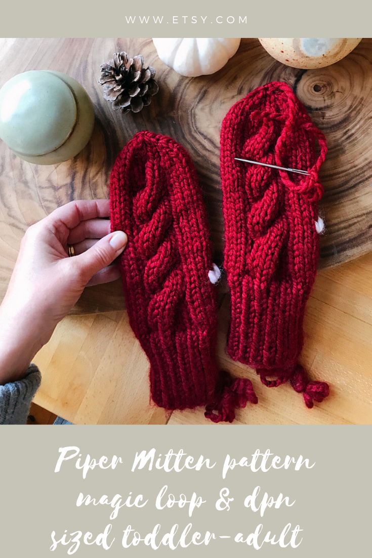 Magic loop and dpn mitten pattern for family. | Mittens ...