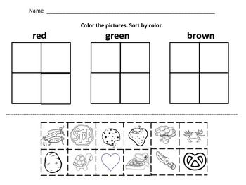 kindergarten math sorting by color by size by shape button sorting kindergarten education. Black Bedroom Furniture Sets. Home Design Ideas