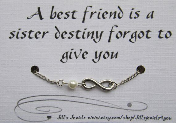 Best Friend Gift- Friendship Infinity Charm Anklet with ...