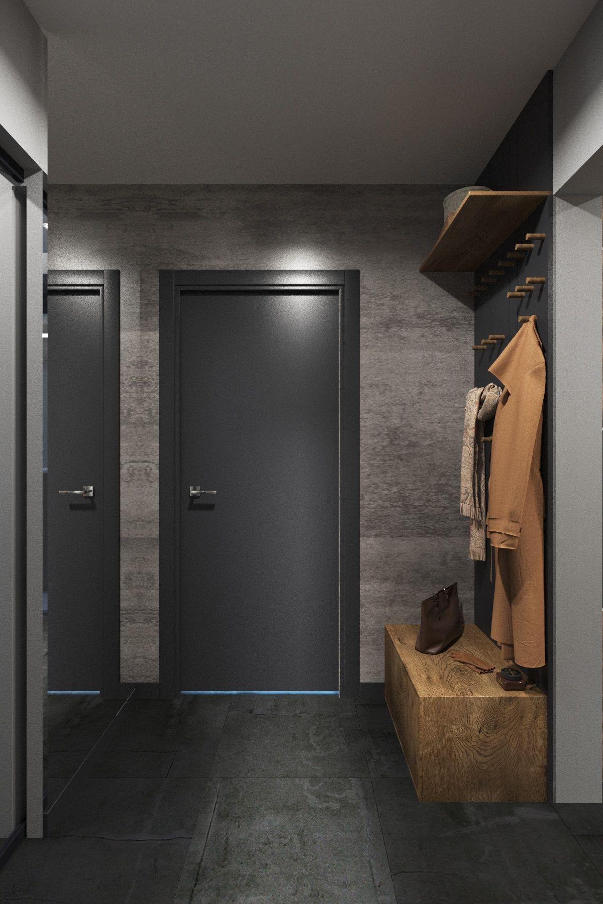Проекты  Loft design, Hallway designs, Studio apartment design