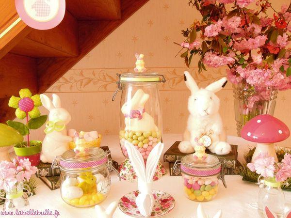 une sweet table alice au pays des merveilles pour un baptême de
