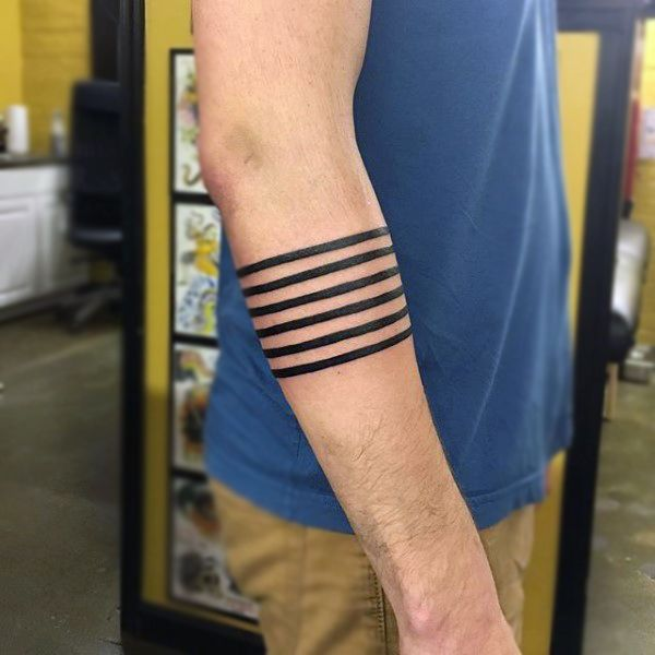 abstract lines black armband tattoo for guys music tats. Black Bedroom Furniture Sets. Home Design Ideas