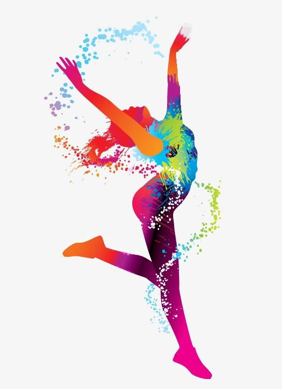 Youthful Silhouette Dancing Watercolor, Youth, Flying ...