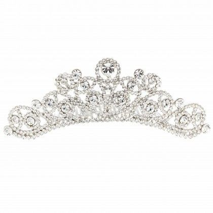 36e4cbd24ca5 Swarovski Crystal Abstract Pear Drop Hair Comb Tiara