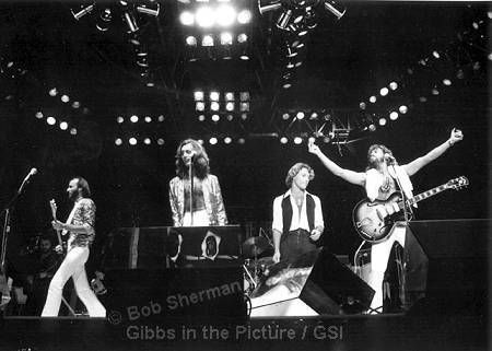 Maurice, Robin, Andy and Barry Gibb