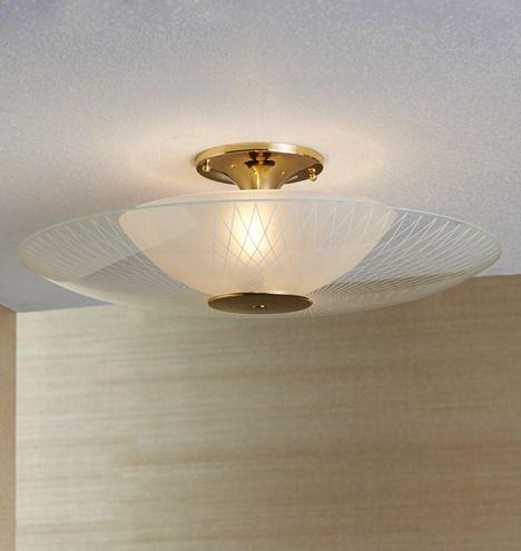 Rejuvenation Mcm Luna Mid Century Modern Semi Flush Ceiling