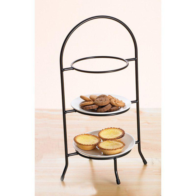 Creative Home Iron Works 3 Tier Dessert Plate Rack | from hayneedle ...