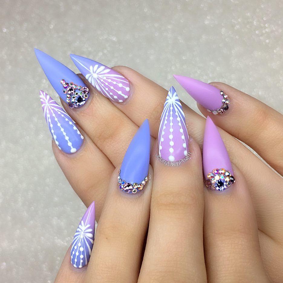 Pretty nail art idea for stiletto nails. Ideas de unas - Pretty Nail Art Idea For Stiletto Nails. Ideas De Unas Nail Art