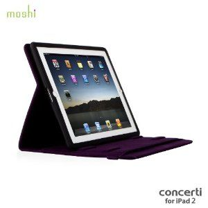 Moshi Concerti for iPad 2 - Tyrian Purple..    For iPad 2 only, however still a must have, been using it for 10 months now. The texture is hybrid silicone/microfiber construction!